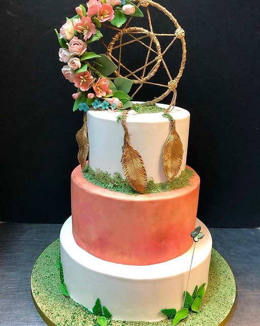 Golden Dream Catcher Cake by Magnolia Cakes & Confections