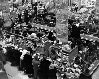 Christmas Shopping in a Canadian Department Store Press Photo 1965