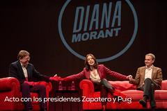 Acto con los presidentes Zapatero y Puig