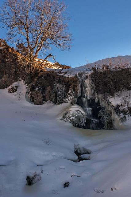 Petite cascade gelée du Sancy