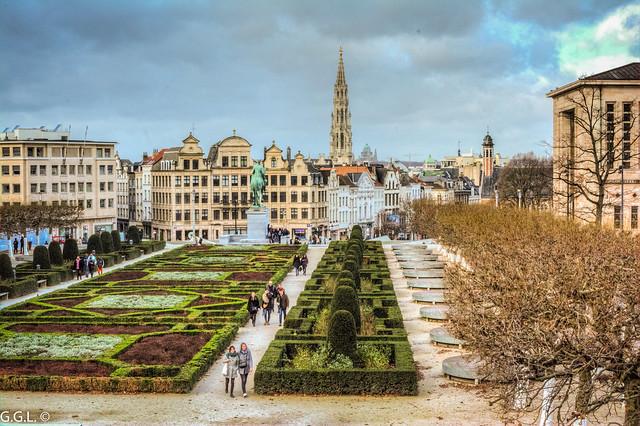 Mont van de Kunsten. Brussel. Europese Tuinen.
