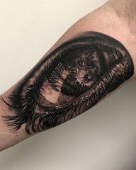 Had a blast with this one today...Thanks for looking! . . . . #blackandgreytattoo #tattoo #eye #eyetattoo #lion #liontattoo #eikondevice #stencilstuff #cheyennetattooequipment #h2ocean #saniderm #bnginksociety #tattoosocietymagazine #tattoolifemagazine #s