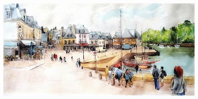 Auray Saint Goustan - Bretagne - France