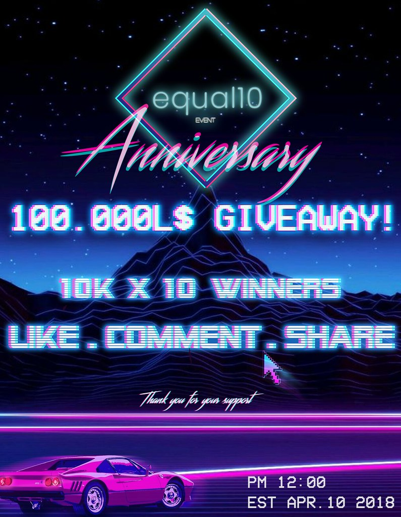 Equal10 Giveaway on Facebook - TeleportHub.com Live!