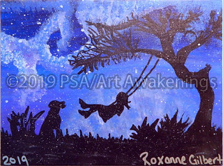 ''Night at the Park'' by Roxanne G, acrylic, $15.00 | by Art Awakenings