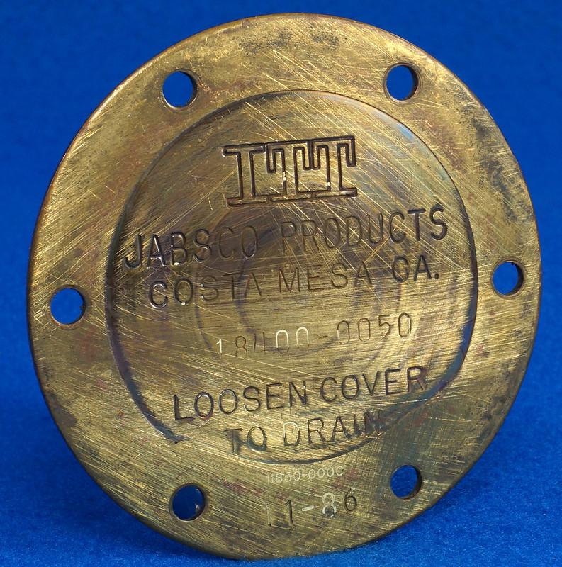 RD26708 Brass 3 inch ITT Jabsco 18400-0050 Pump End Cover Plate DSC00080