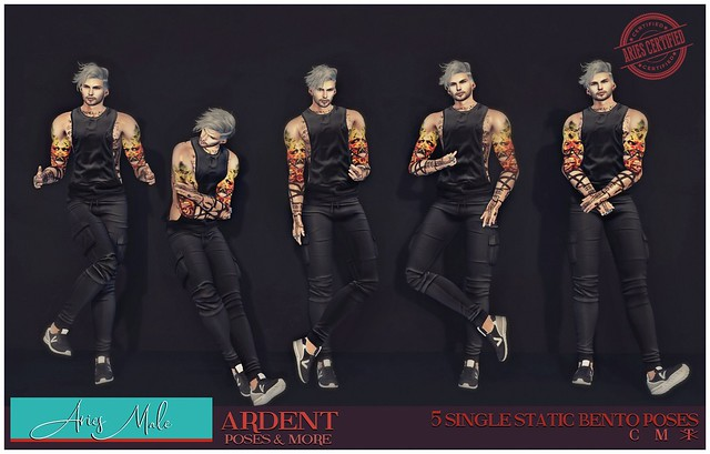 Ardent Poses - Aries Male Ad