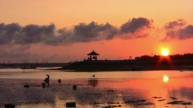 INDONESIEN, Bali , Abendstimmung  am Strand von Sanur, 18056/11304
