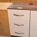 Walnut E80 locker three drawer