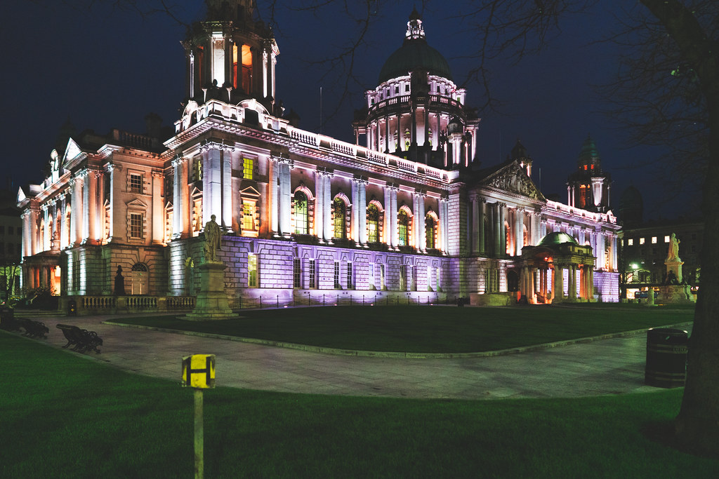 BELFAST CITY HALL AT NIGHT 007