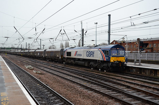 66780 passes Doncaster on 4N80 Doncaster Decoy - North Blyth
