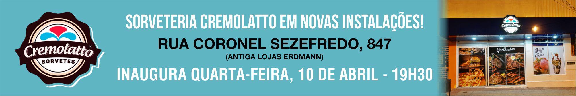 Prestigie a reinauguração da Cremolatto em novo endereço no Calçadão de São Gabriel