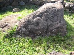 Hombre pájaro tallado en roca - Isla de Pascua - Chile