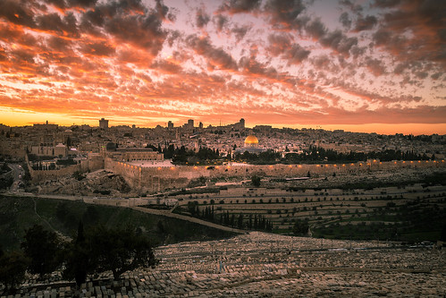 jerusalem sunset lanscape israel