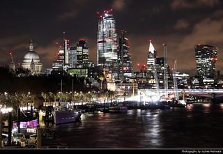 City of London skyline seen from Waterloo Bridge, London, UK   by JH_1982