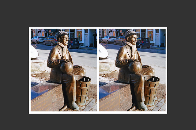 Statue of James Naismith, inventor of basketball, in Almonte Ontario