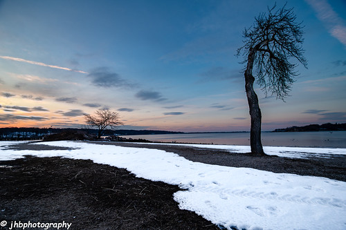 trees beach landscape winter clouds islands water sunset colors seascape oysterbay silhouette snow theodorerooseveltmemorialpark