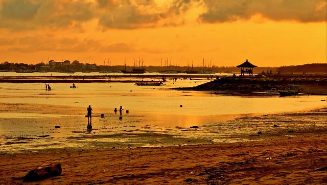 INDONESIEN, Bali , Abendstimmung  am Strand von Sanur, 18052/11296