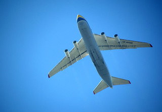 Massive plane flying over Preston | by Tony Worrall