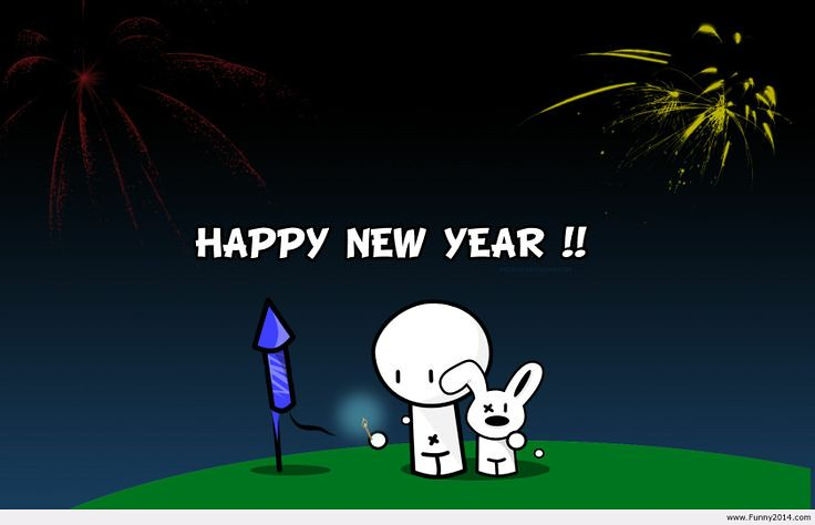 Happy new year 2019 funny cartoon images hd