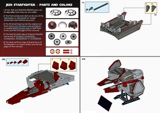 UCS Jedi starfighter - Eta-2 Actis-class interceptor INSTRUCTIONS | by thire5