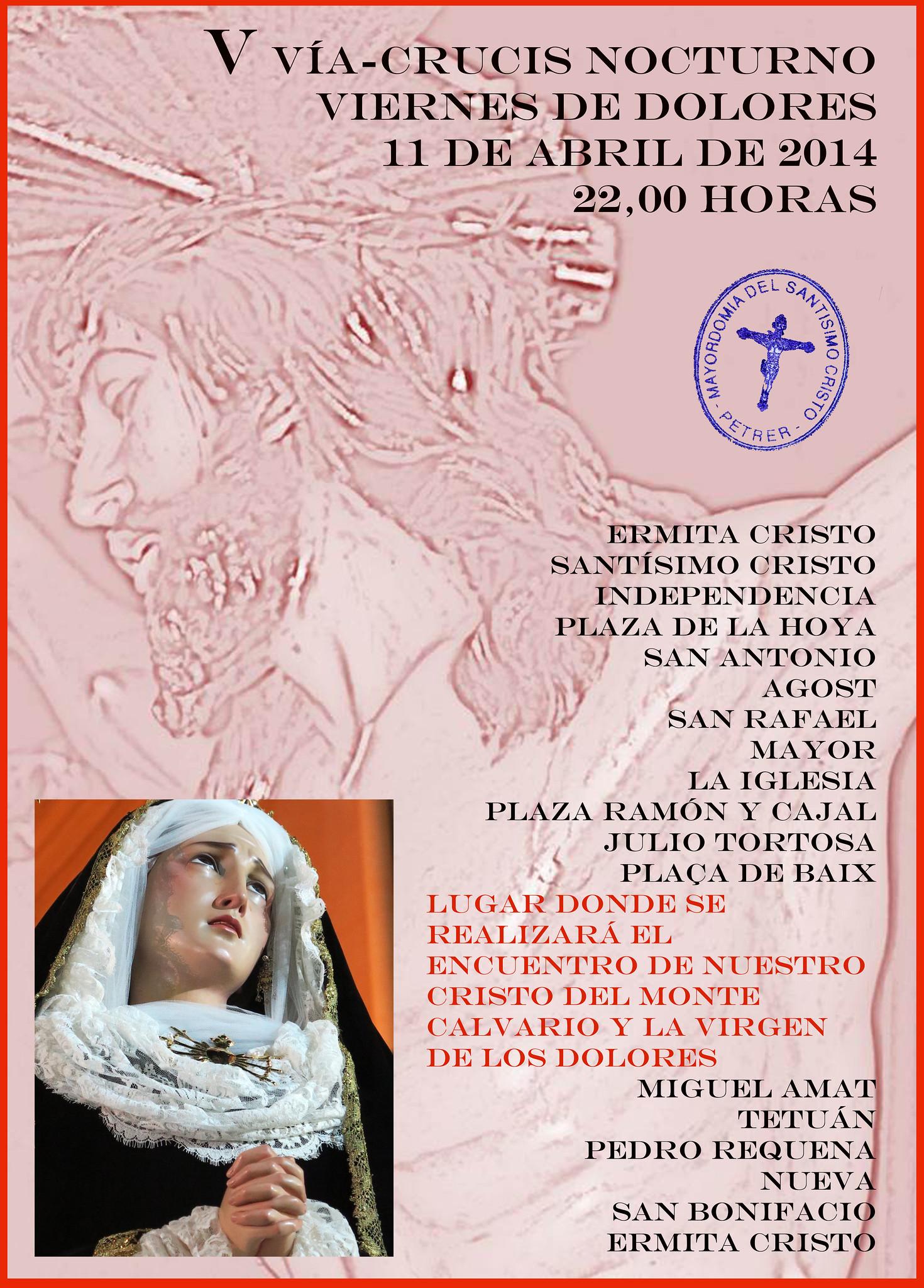ElCristo - Historia - Documentos - (2014-04-11) - Cartel V Vía-Crucis nocturno