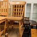 Solid heavy pine kitchen chair E50.