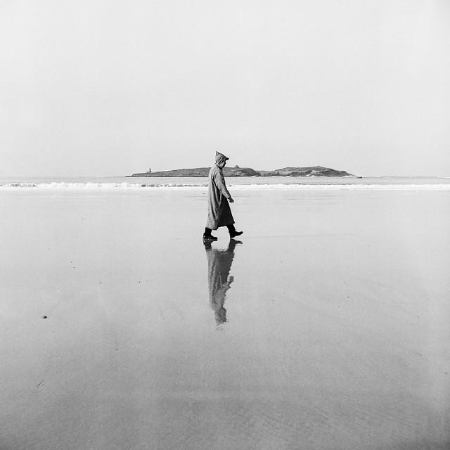 lonley walk at the beach