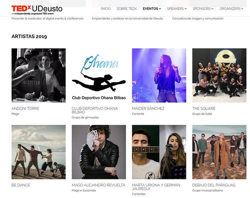 Artistas TEDxUDeusto 2019
