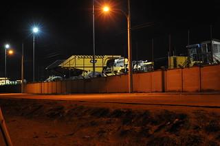 Mining Dump Truck at Night