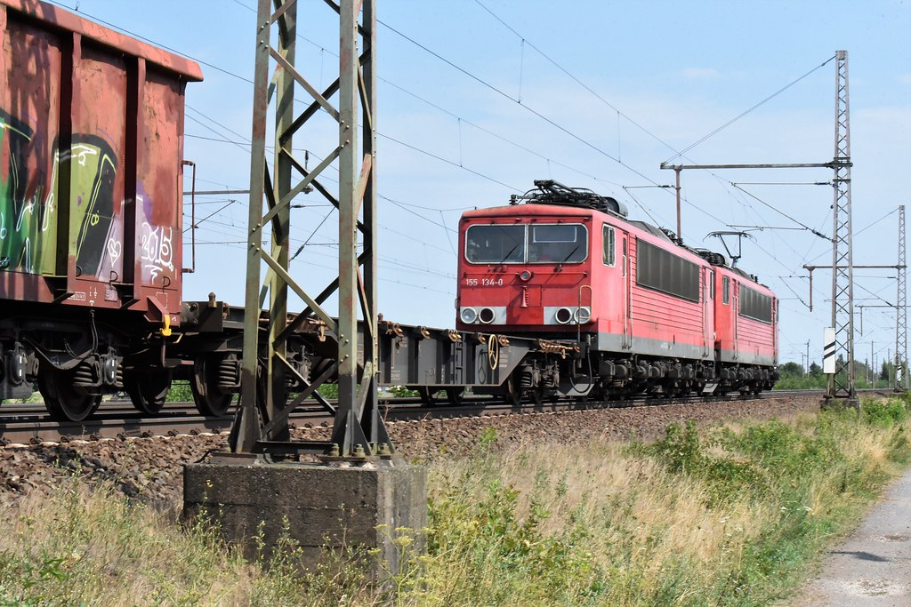 155 096-1 & DIT 155 134-0 Dedensen-Gümmer 01/08/2018 by ChrisDPom