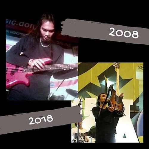 One of my biggest success is that I still love playing #10yearchallenege #10yearchallenge #10yearschallenge #bassist #musicianlife #bass #indobassgram #indonesianbassplayers #bassplayer | by Dede SP