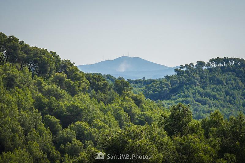 El Montau desde cerca de La Roqueta en Olivella