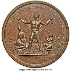 Abolition of Slavery throughout the British Colonies Medal obverse