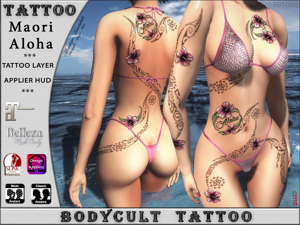 BodyCult Tattoo Maori AlohaFB1098