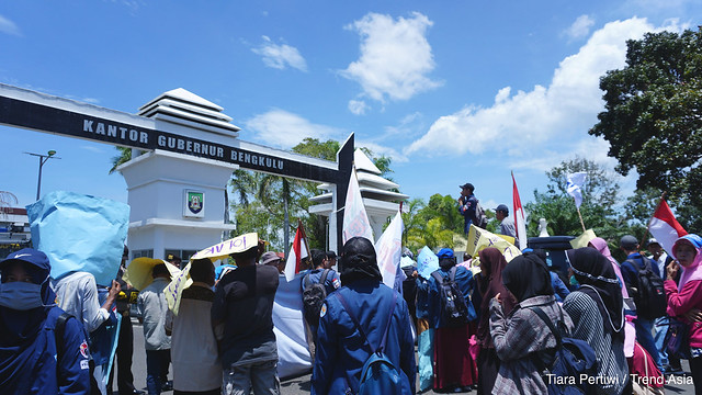 Anti-Coal Power Plant Protest in Bengkulu, Indonesia