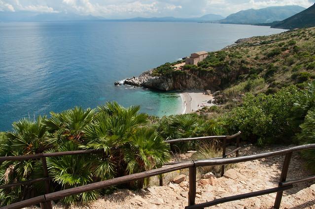 Path to coast at Riserva naturale dello Zingaro