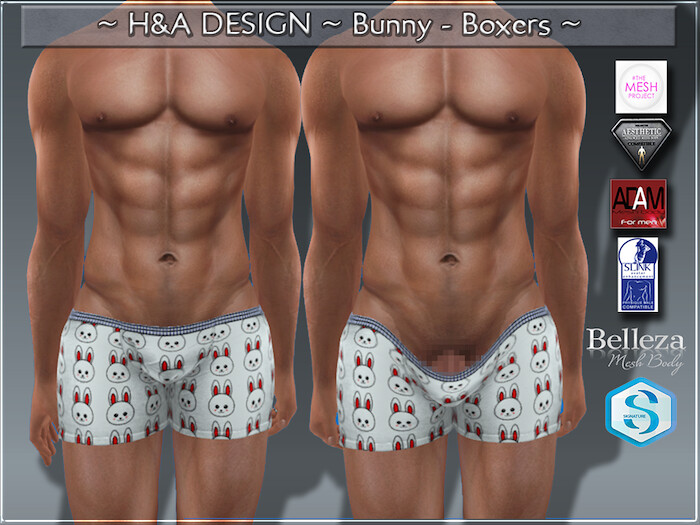 [H&A Designs]-Bunny Boxers
