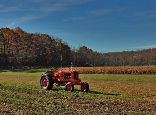 yarnick farm farmall tractor vehicle field cletrac indiana county pa pennsylvania vehicles scenic scenery landscapes