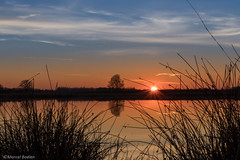 Scharreveld zonsondergang