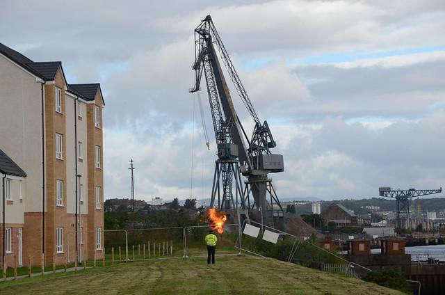 Technical Demolition Services Inchgreen Dry Dock Cranes Blowdown