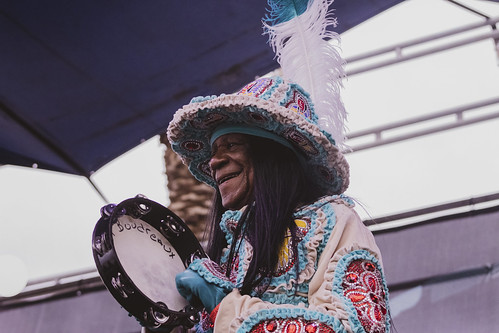 Big Chief Monk Boudreaux at French Quarter Fest - 4.13.19. Photo by Jamell Tate.