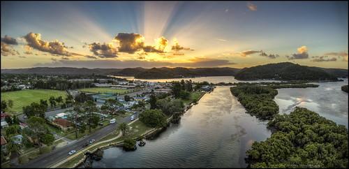 woywoynsw australia sunset sunrays evo autelevo autelrobotics autel dronephotography centralcoastnsw