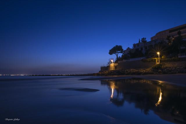 Noche azulada