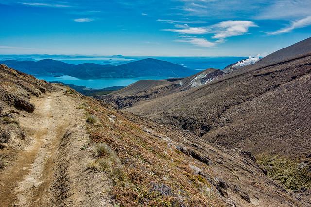 Tongariro Crossing - Coming Down