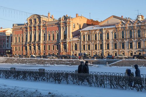 saintpetersburg sunrise russia street people city cityscape town snow old exterior building colorful avenue orange river morning house architecture sky skyscape outdoor winter nevskyprospect ice nevskyavenue petersburg prospect st leningradoblast ru