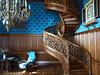 Zámek Lednice, knihovna se známým vřetenovitým schodištěm, foto: Petr Nejedlý