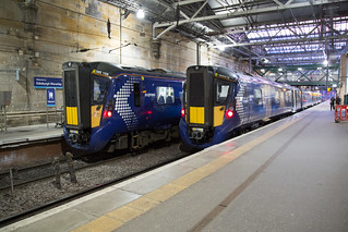 Scotrail 385 108 + 385 015 Edinburgh Waverley | by daveymills37886
