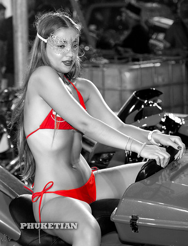 Beautiful girl at Phuket Bike Week 2019, Patong beach, Thailand Photo