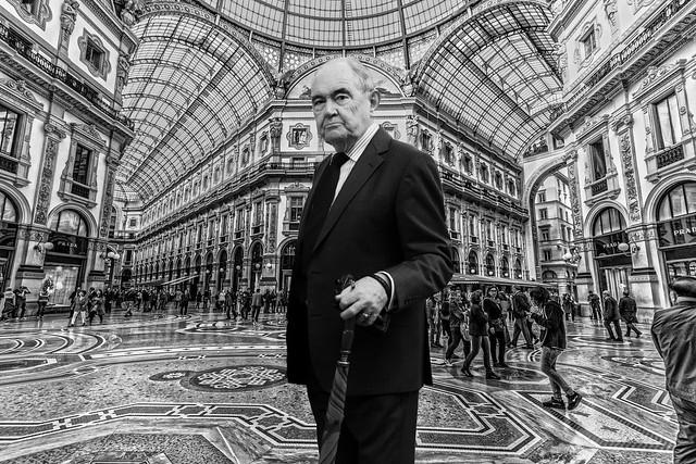 a Gentleman in Vittorio Emanuele Gallery in Milan.